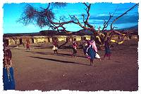 Massai Dorf in Kenia