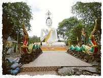Der Buddhistische Wat in Koh Samet City