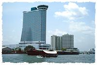 Hotel am Chao Phraya Fluss in Bangkok